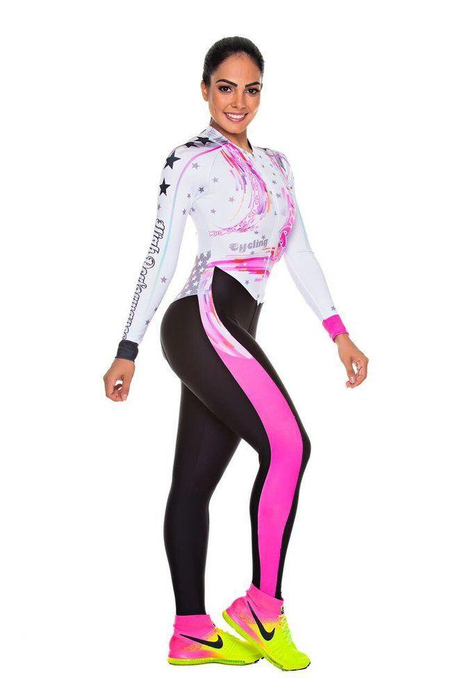d7188ff71 Macacão Feminino Manga Longa Cycling Pink | Dunas Cycling | Macacão ...