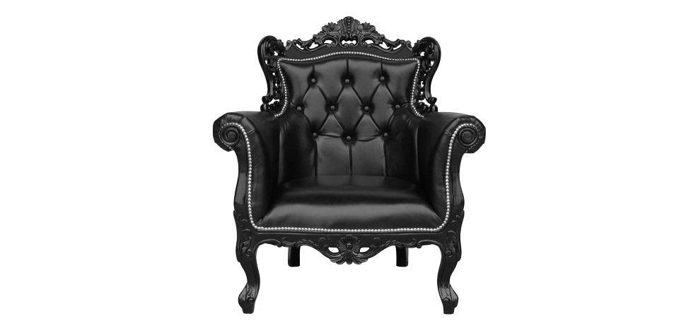 Fauteuil Baroque noir