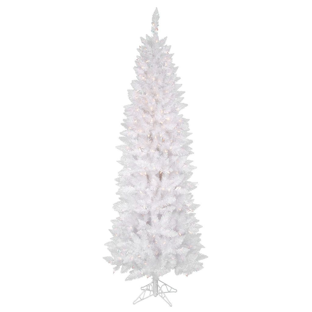 Where To Buy A Pre Lit Christmas Tree: Vickerman 7.5-ft. Pre-Lit Sparkle White Pencil Artificial