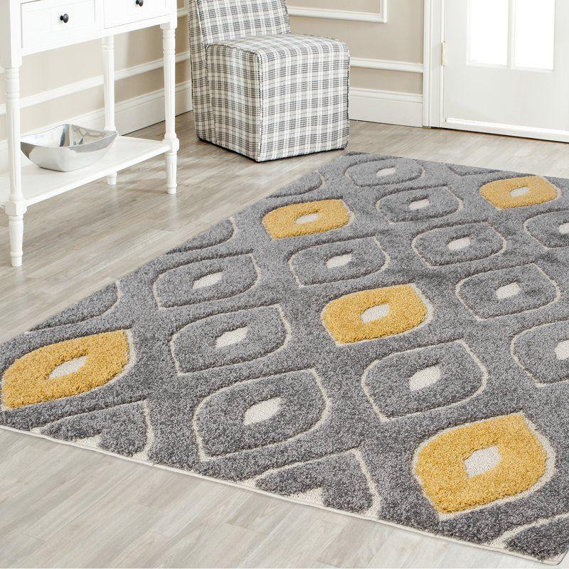 Grey And Yellow Living Room Rug