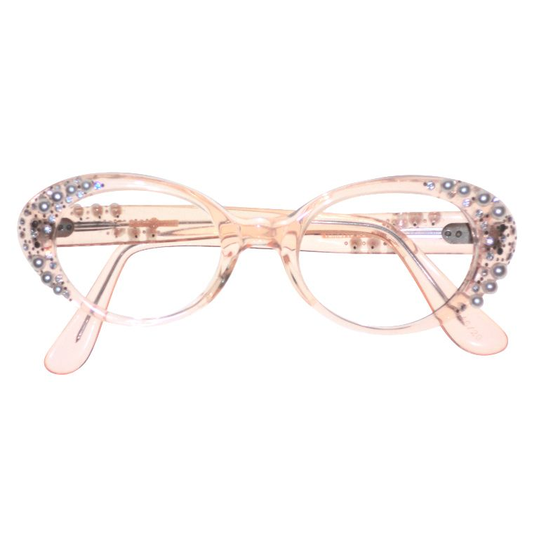 0db99121fb7 French Made Lucite 50s Rhinestone and Pearl Frames