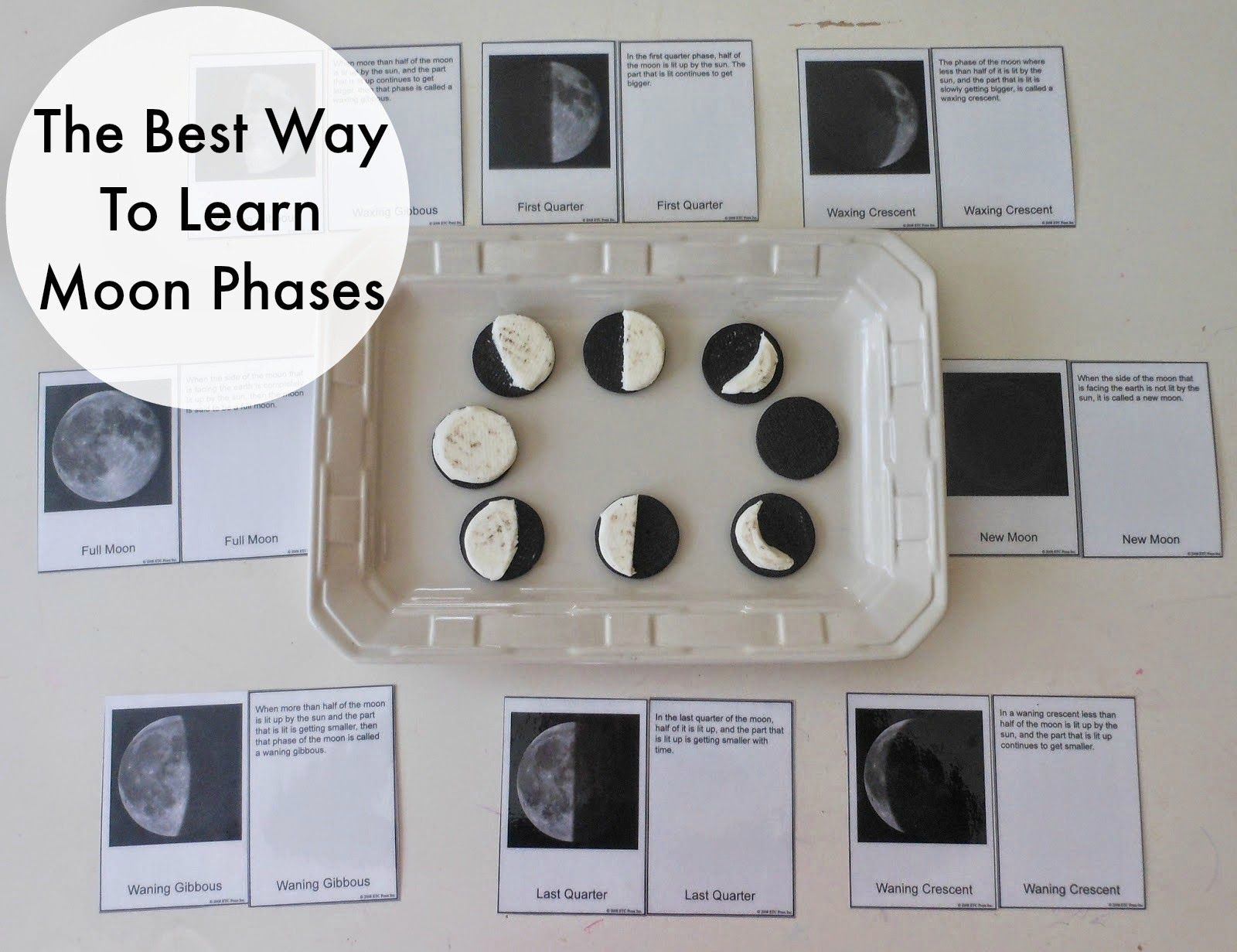 Phases Of The Moon Montessori Free Printables Crafts And