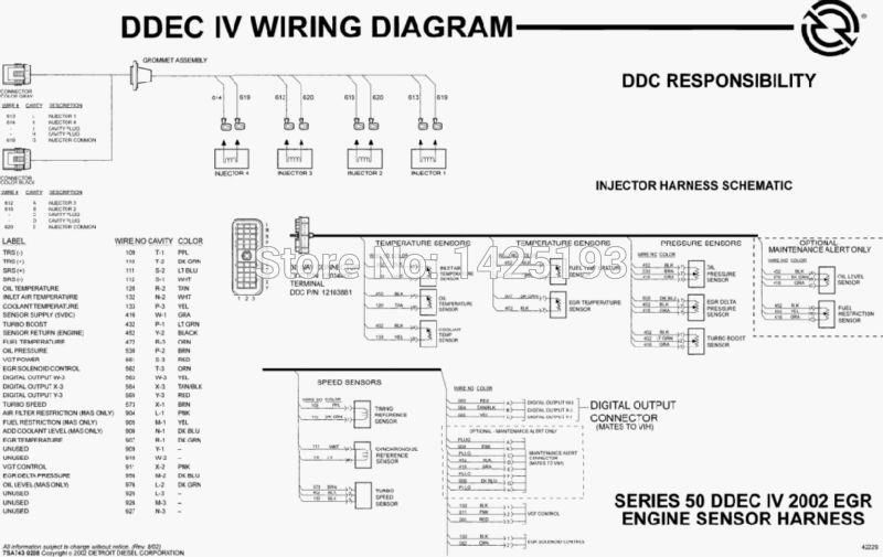 Detroit Diesel Series 60 Service Manual With Injector Harness Schematic And Digital Output Connector Wiring Diagram Detroit Diesel Digital Connector