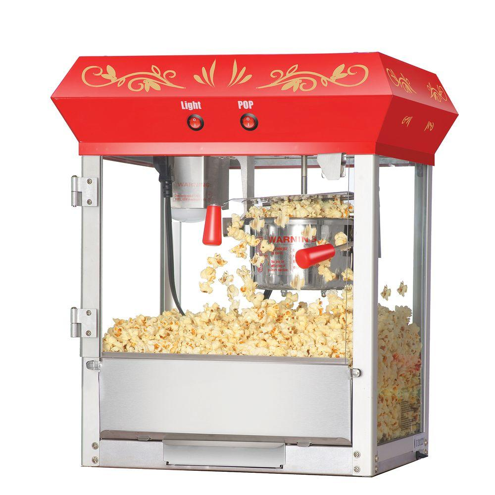 Great Northern Foundation 6 Oz Red Countertop Popcorn Machine
