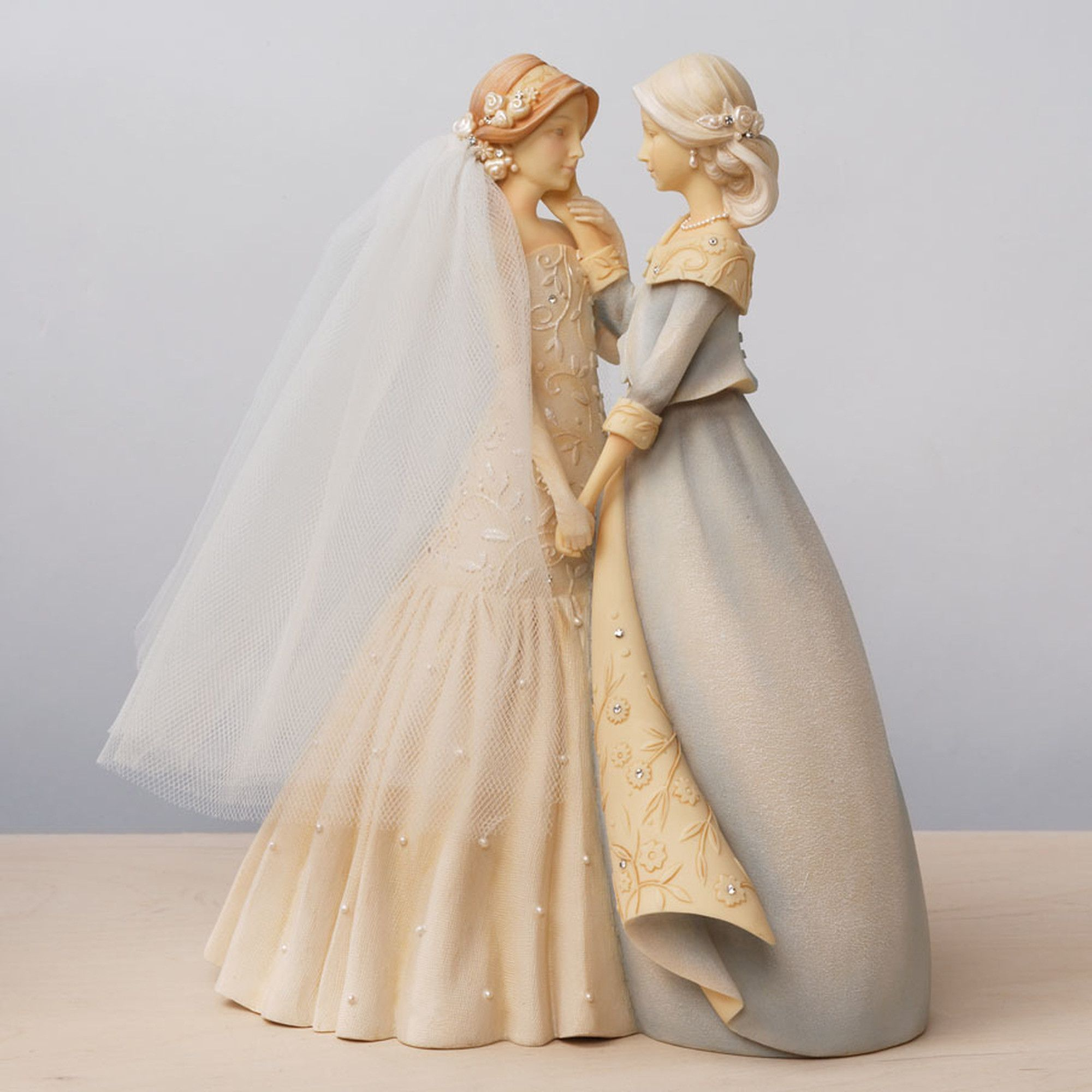 Enesco Foundations Mother And Bride Figurine 9 Inch