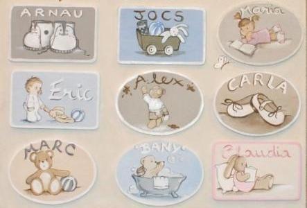 Murales infantiles y cuadros para la habitacin del beb Carol