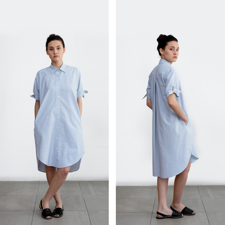 Maxi dress shirt dress oversized dress long sleeve dress