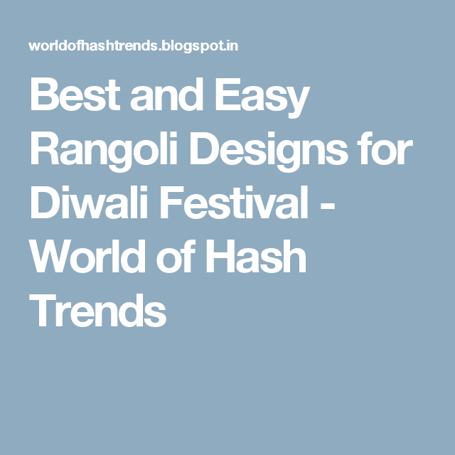 Best and easy rangoli designs for diwali festival world of hash best and easy rangoli designs for diwali festival world of hash trends marathi poemsdiwali thecheapjerseys Image collections