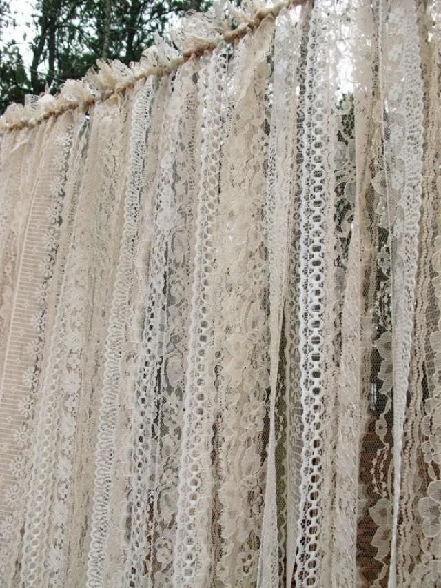 Lace Backdrop Garland For Weddings And Events