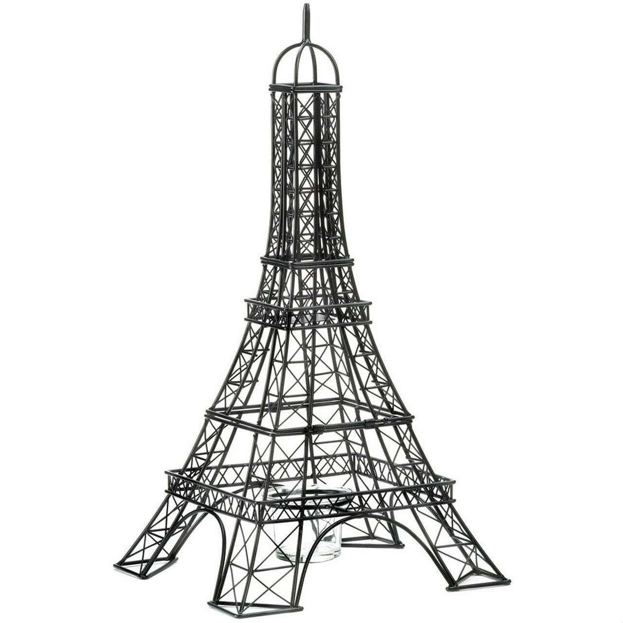 A And E Imports Eiffel Tower Metalwork Candle Holder Kolibrie