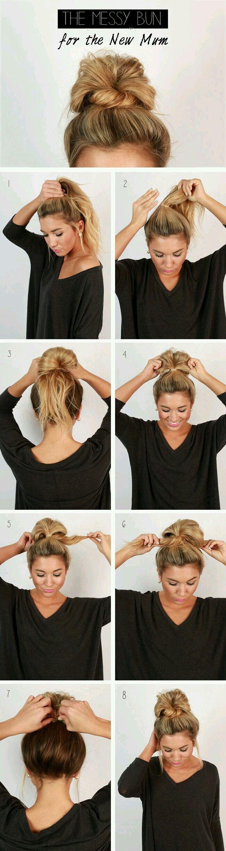 messy bun frisuren pinterest messy buns hair style and