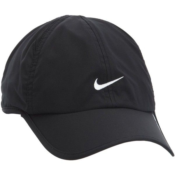 Nike Dri-Fit Core Running Cap One Black ($28) ❤ liked on Polyvore