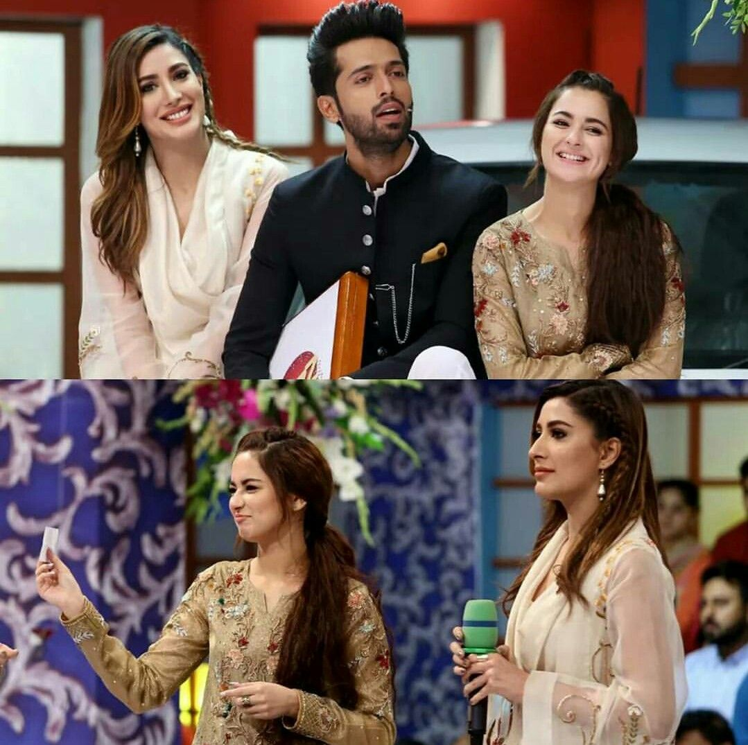 Beautiful Mehwish Hayat, Fahad Mustafa and Dimple Girl Hania