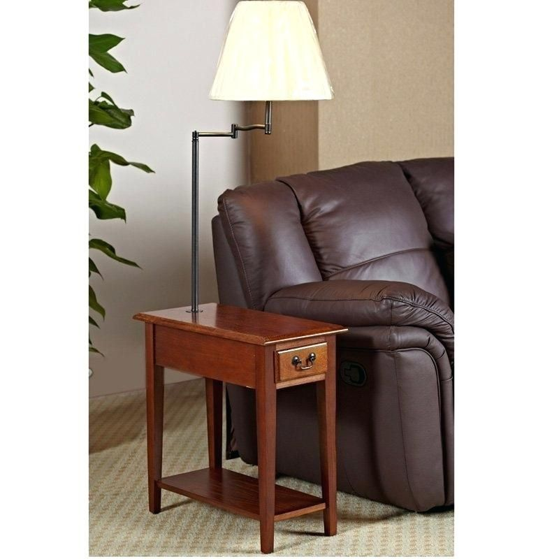 Nightstand With Lamp Attached End Tables With Lamps Attached Czardasco End Table With Lamp Oak End Tables End Tables