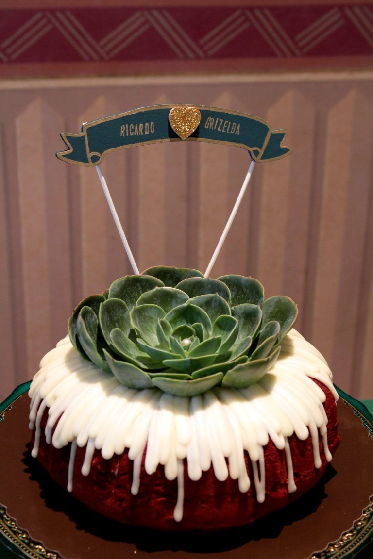 Downtown los angeles wedding succulent wedding nothing