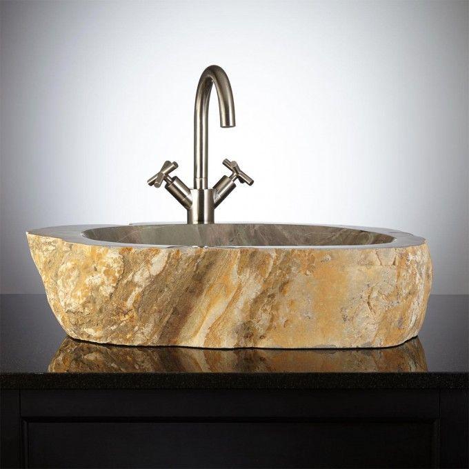 Corella Natural Stone Vessel Sink bathroom Pinterest Bathroom