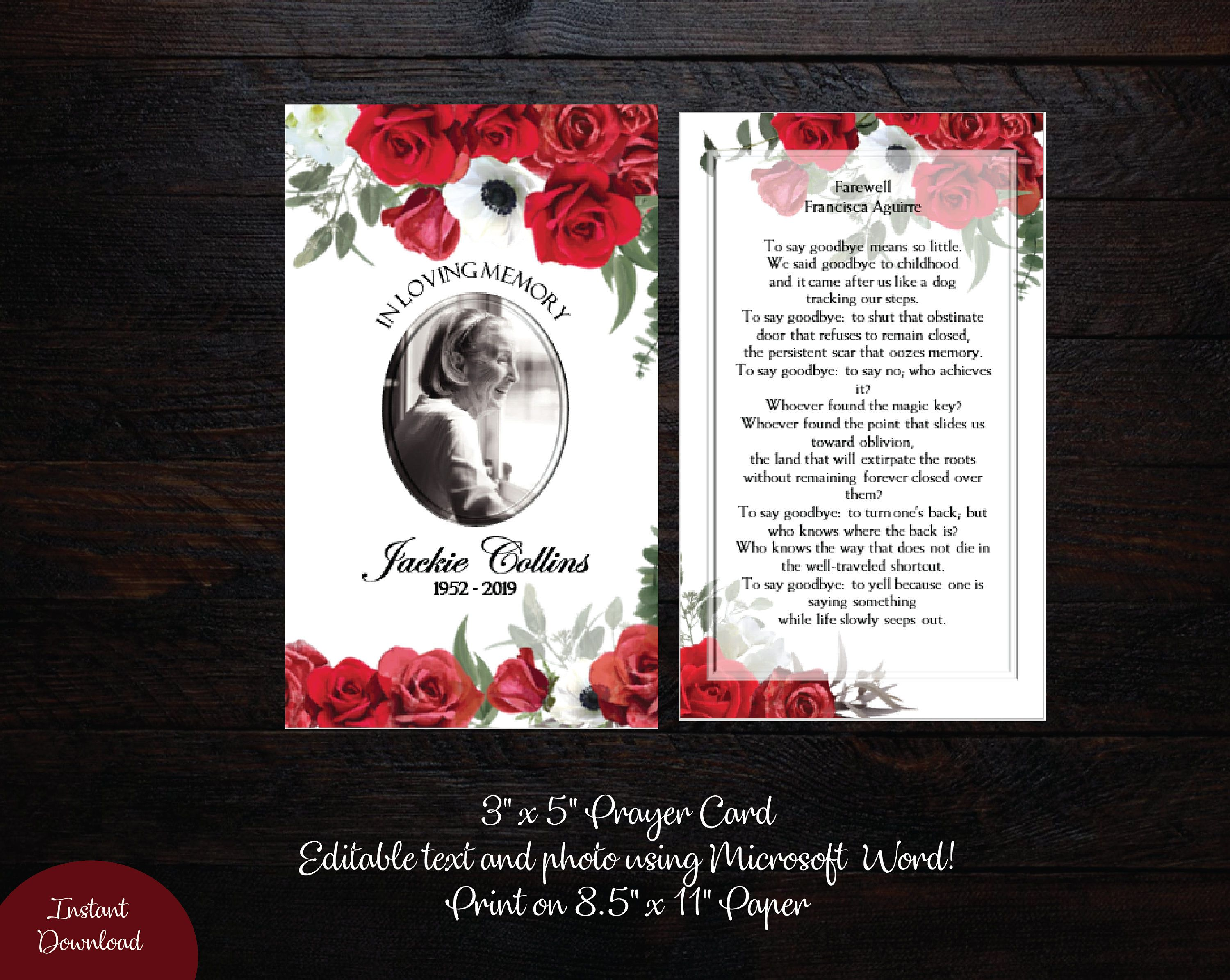 Pin By Prettydigidesigns On Funeral Program Templates Funeral