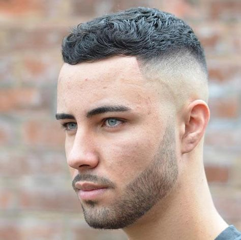 Short Curly Crew Cut Haircut Great Men S Hairstyles And Beards