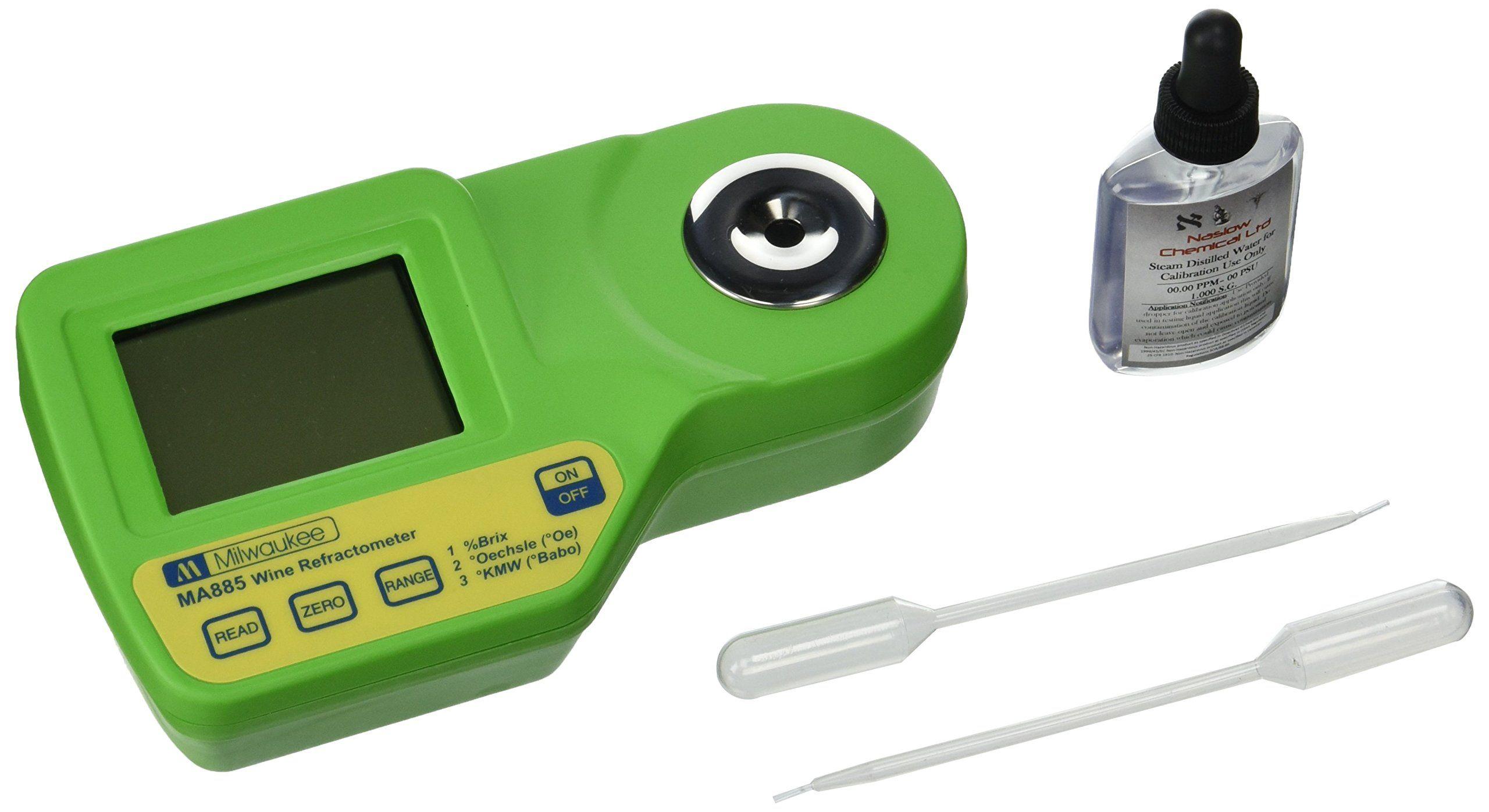 Milwaukee Instruments MA885 Digital Refractometer Grape