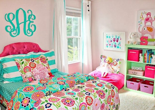 Carolina On My Mind Turquoise And Pink Big Girl Bedroom