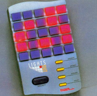 Lights Out by Tiger Electronics  I played this under the covers a