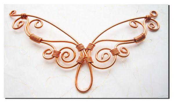 Wire design.  No tute, just loveliness.   #wire #jewelry #eyecandy