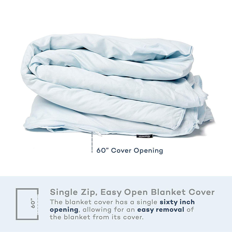 Amazon Com Dozeology Weighted Blanket Premium 160gsm Luxury