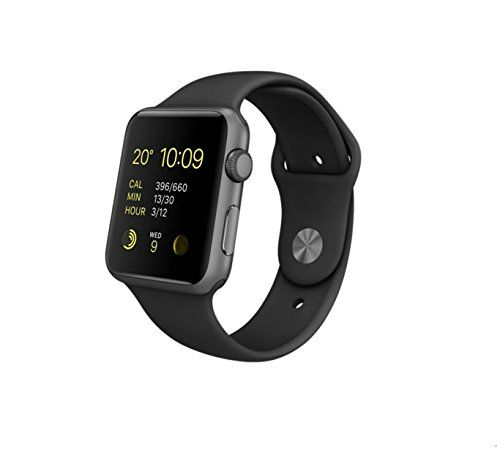 Apple MJ3T2B/A 42 mm Sport Band Watch Space Grey/Black