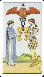 How to read the 2 two of wands card in the minor arcana of the rider waite tarot