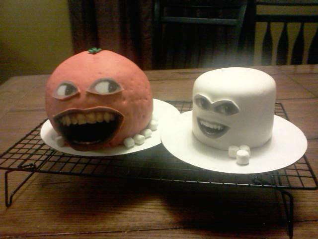 Annoying Orange. Pretty Peachy cakes by Theresia