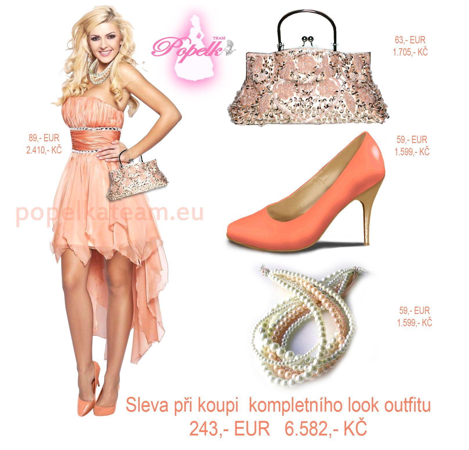 Sleva při koupi kompletního look outfitu. Šaty, boty, kabelka, bižuterie. Platí pro komplety z naší nabídky, jakož i ty, které si sama navrhnete .