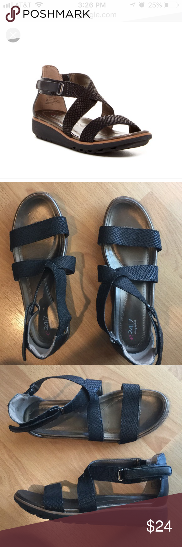 6acb59fcf265 Easy Spirit Escolette Flatform gladiator sandal So comfy with adjustable  ankle strap and Easy Spirit 24 7 comfort technology. Leather upper for even  more ...