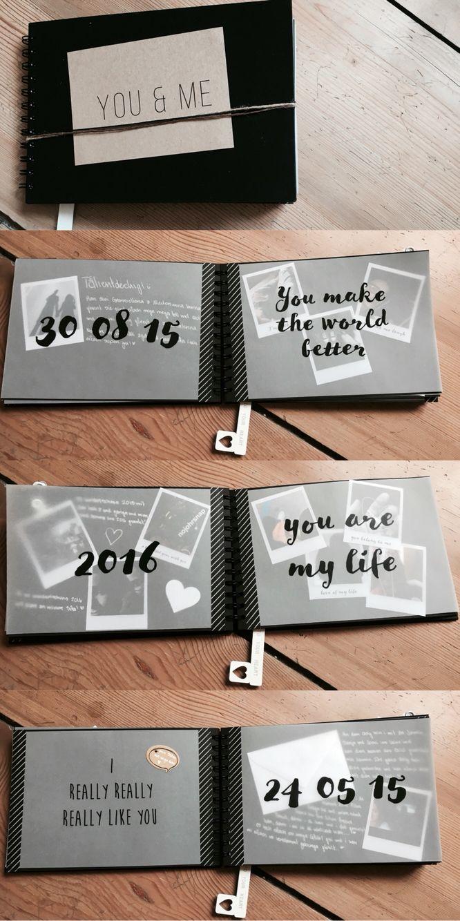Ein Jahresbuch Von Dem Punkt An Als Wir Uns Kennengelernt Haben Bis Zum Heutigen Tag Sind Alle Tag Jahresbuch Geschenk Fur Freund Freund Jahrestag Geschenke