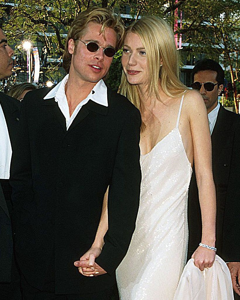 During her Brad Pitt, Calvin Klein slip dress era during the mid to early 90's