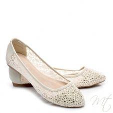 Dámske béžové balerínky MILA #flats #shoes #balerinky