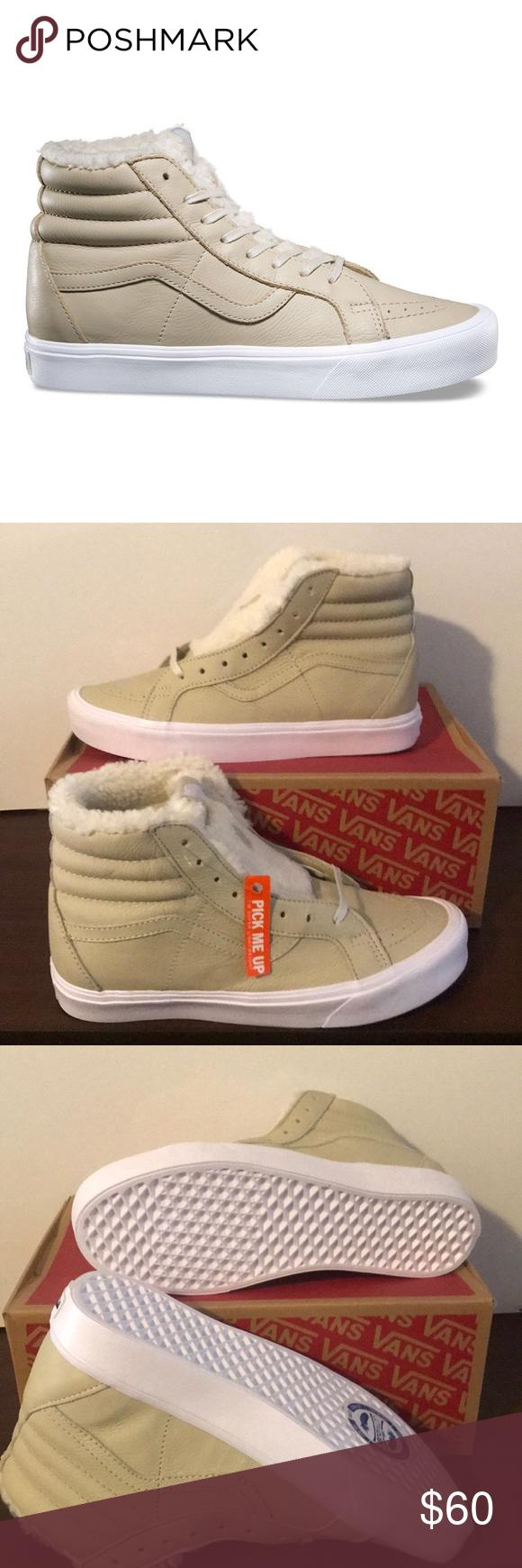 7905cb933e Vans Sk8-Hi Reissue Lite(Men) Vans Sk8-Hi Reissue Lite Sherpa Cement True  White Vans Shoes