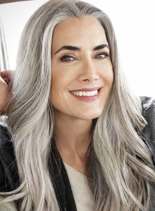 Older Women Hairstyle With Images Long Gray Hair