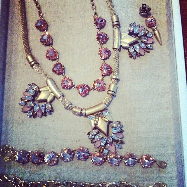Helena & Somervell Necklace, Amelie & Christina Link Bracelet, Holly Clip Earrings