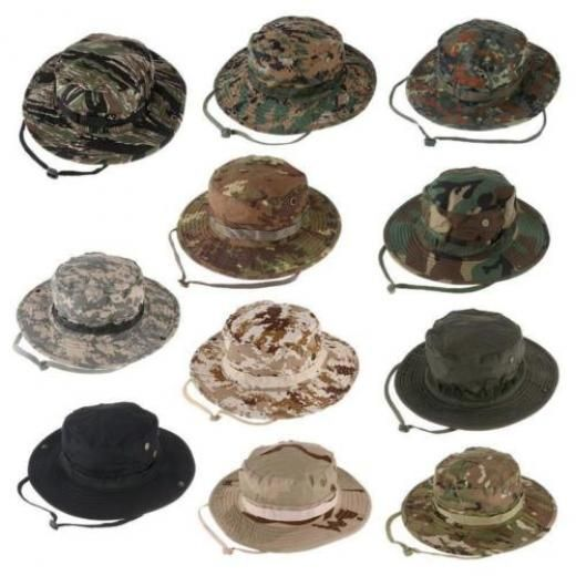 351840f396f01 Combat Camo Army Military Boonie Bush Jungle Sun Hat Outdoor Hiking Fishing  Cap L Wide Brim 65% Polyester+35% Cotton China Yes