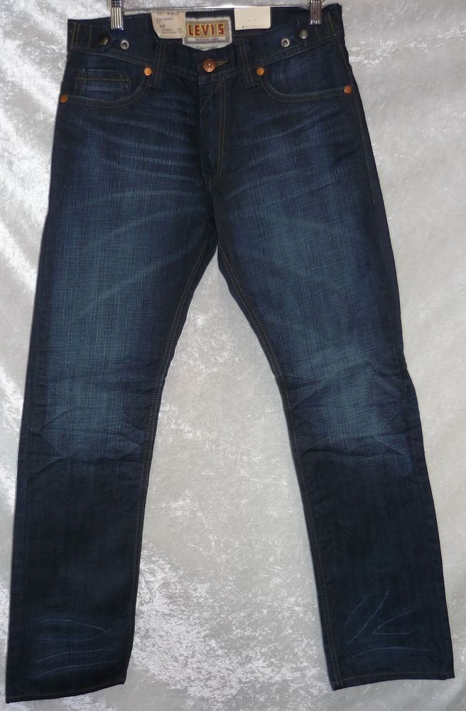 8cfafca2 Levi's 514 slim straight leg Jeans Zippered Back Pockets men's size 30x30  NEW 36.99 http: