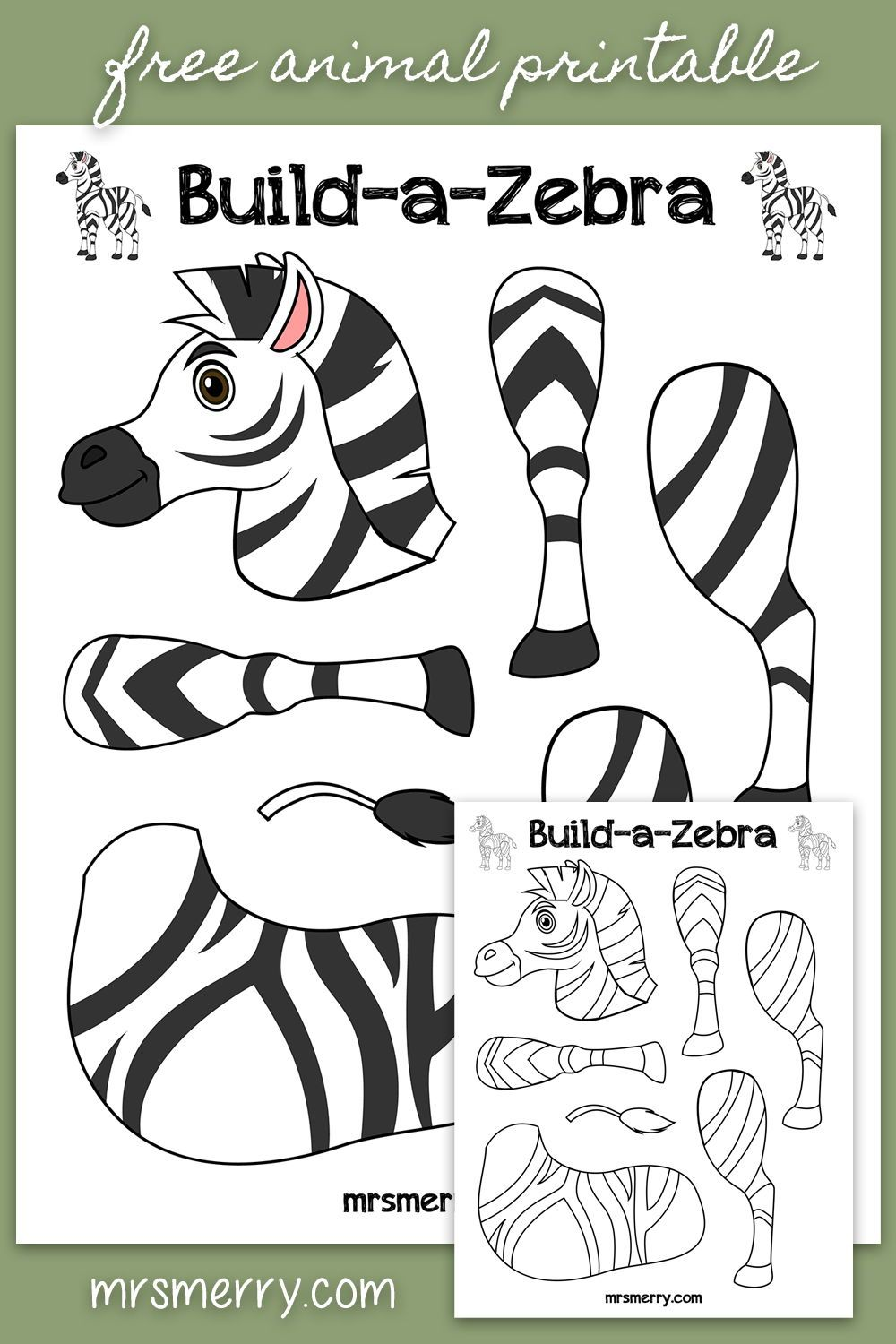 Printable Zebra Pictures