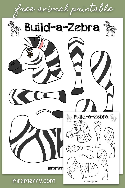 Free Printable For Kids Build A Zebra Zoo Animals Crafts For Kids Mrs Merry Zoo Animal Crafts Zoo Animals Preschool Crafts Zoo Animals Preschool [ 1500 x 1000 Pixel ]