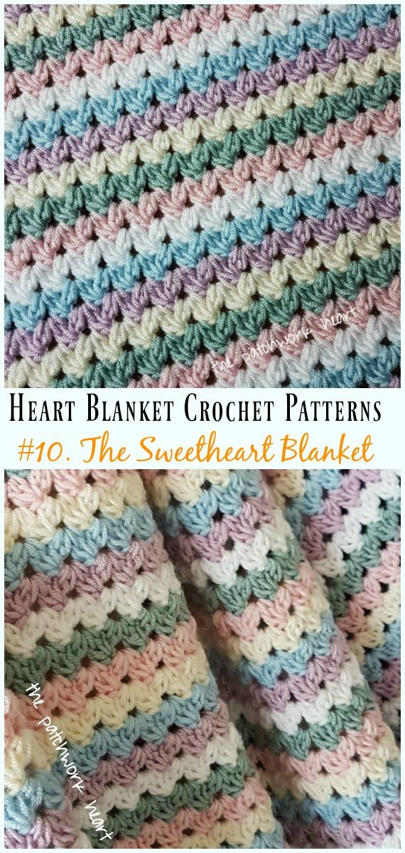 Heart Blanket Crochet Patterns Free and Paid | Crafts-Crochet/Knit ...