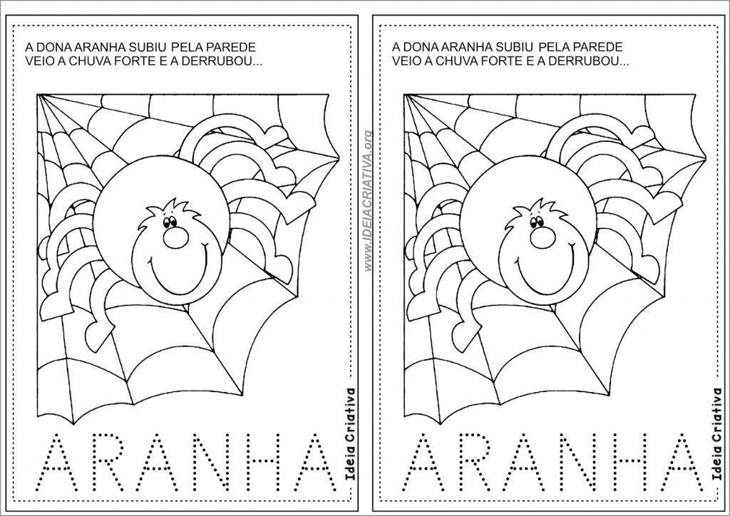 Atividades Letra A Aranha 7 A Dona Aranha Projetos De Arte