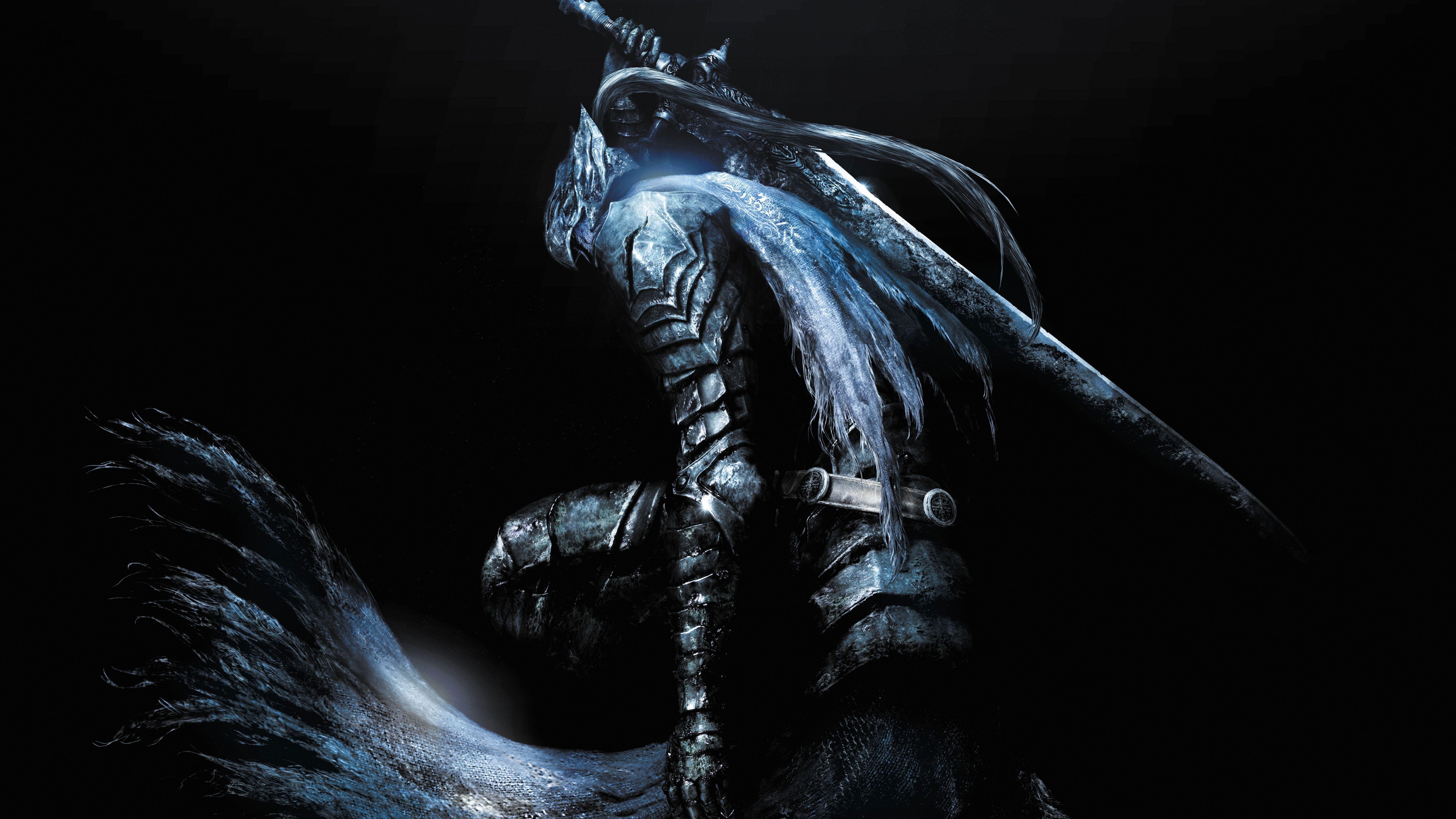 Swordsman Illustration Dark Souls Artorias Fantasy Art Digital Art Video Games 5k Wallpaper Hdwallpaper Desktop En 2020 2560x1440 Wallpaper