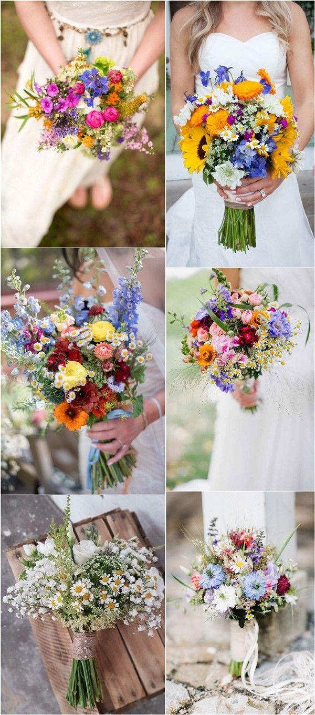 22 Wildflower Wedding Bouquets for Spring Summer Wedding