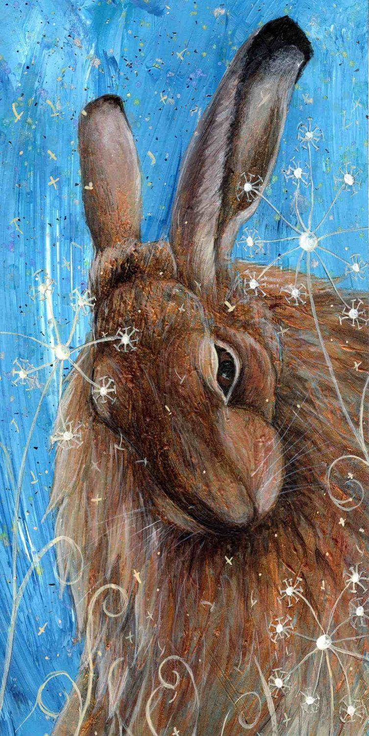 Seeds Artist print Hare by MollysFollies on Etsy