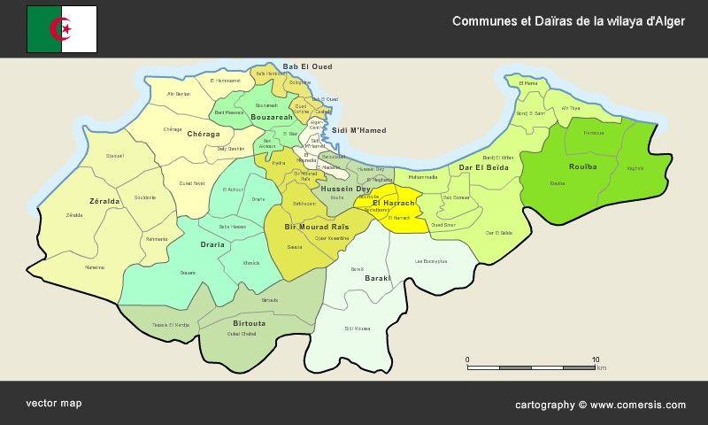 Carte Alger Dwg.Carte Communes Et Dairas De La Wilaya D Alger Catalogue