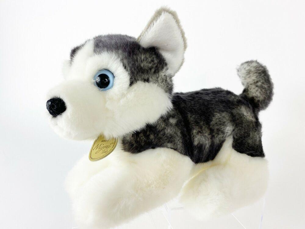 Details About Aurora Miyoni Tots Siberian Husky Pup Blue Eyed Soft