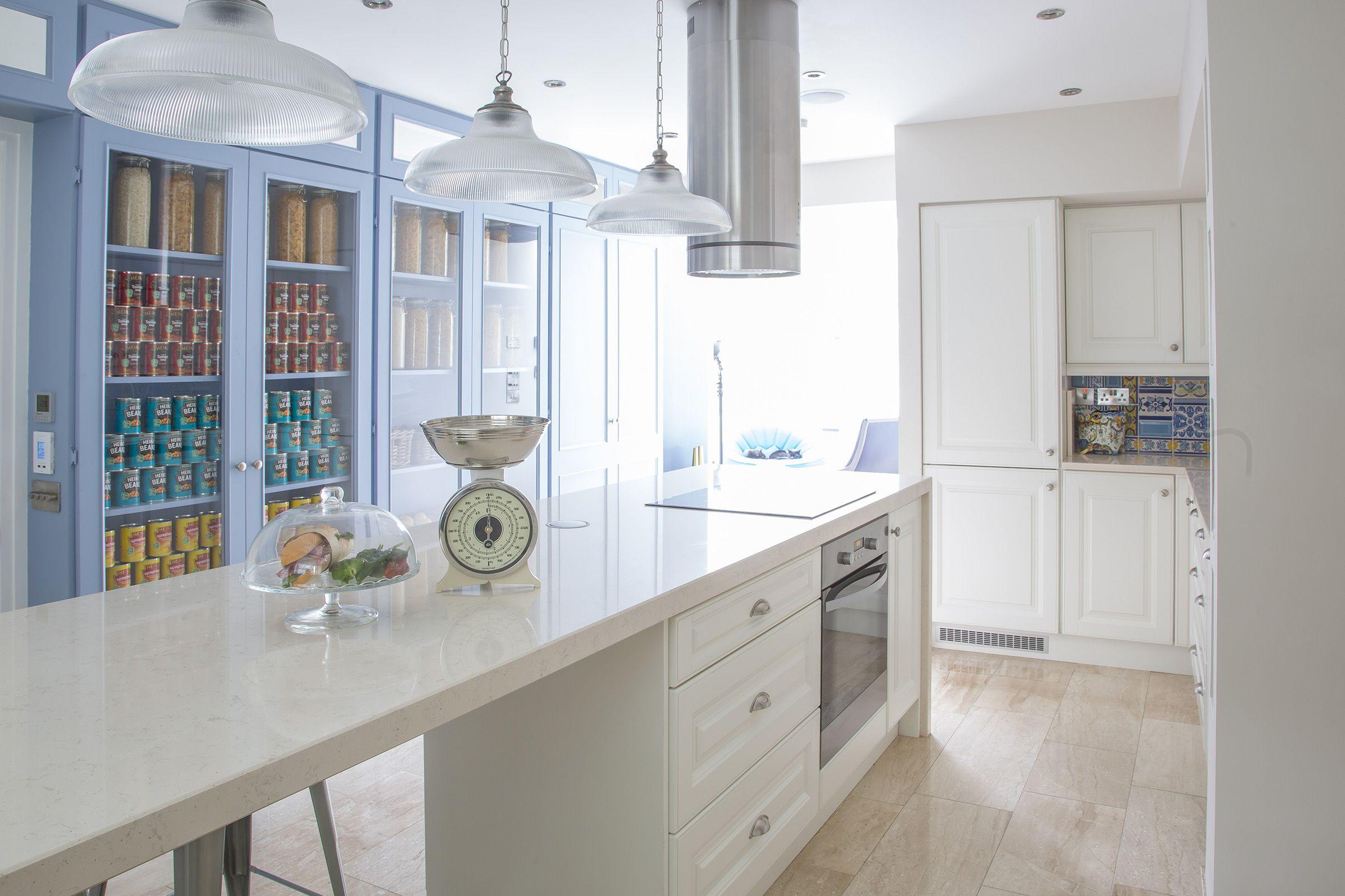 Open Kitchen Storage, Bespoke Kitchen Cabinets. Brasserie Style Kitchen